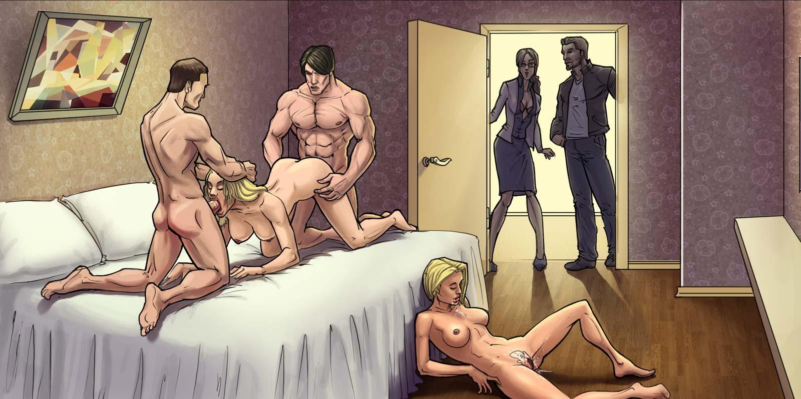 русская игры в секс в постели себе они
