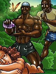 The wife and the black gardeners - Why is she letting that black man touch her? by kaos comics