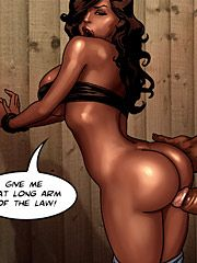 True dick: Give me that long arm of the law by black n white comics