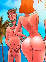 This is our plan B, dear - The naughty home: At the nude beach part 02 by welcomix (tufos)