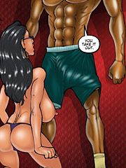 Son's best friend - This is one hard muscular chest by kaos comics